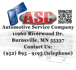 Automotive Service Company 							11960 Riverwood Dr. 							Burnsville, MN 55337 							Contact Us: 							(952) 895 - 9195 (telephone)